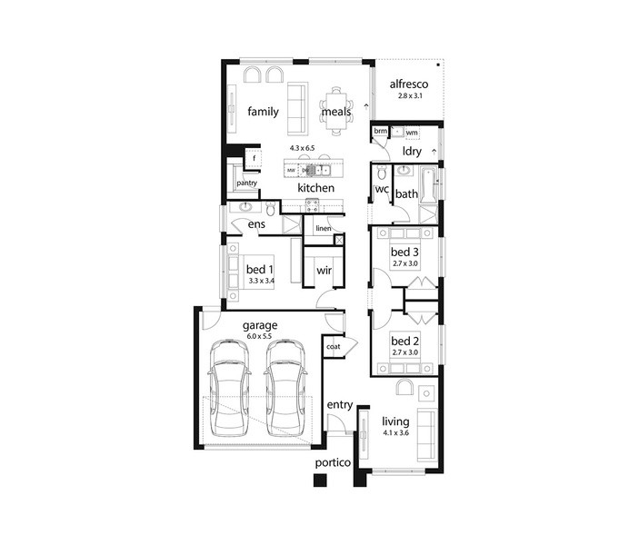 Jade By Dennis Family Homes 4 Beds 2 Baths 2 Cars 22 44 Square New Home Design