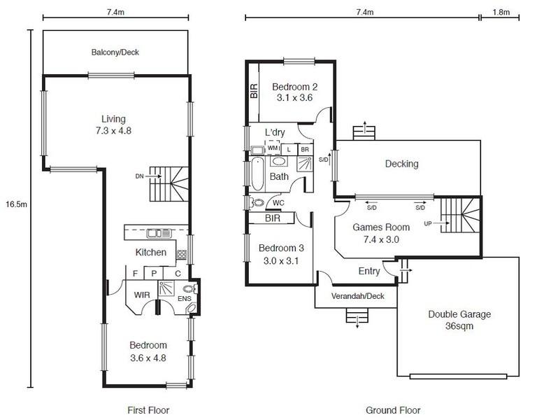 3 beds, 2.5 baths, 2 cars, 24.97 square floorplan