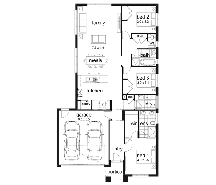 Waterford By Dennis Family Homes 4 Beds 2 Baths 2 Cars 23 37 Square New Home Design