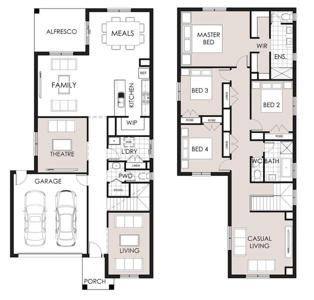 Double storey Serenity 362 House design