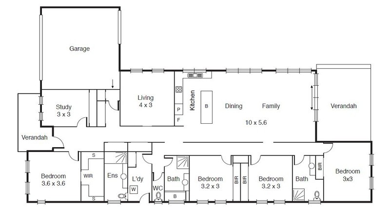 4 beds, 3.5 baths, 2 cars, 30.56 square floorplan