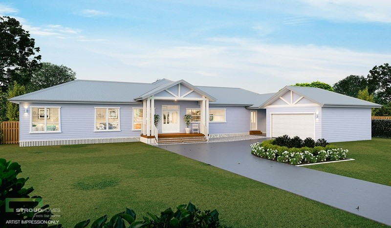 Single storey Waratah 376 House by Stroud Homes Melbourne North
