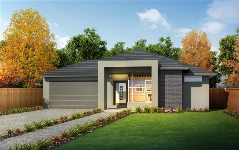 Single storey Chevron 32 House by Orbit Homes