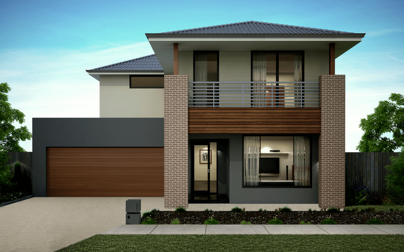 Double storey Lumina House by Omnia Homes