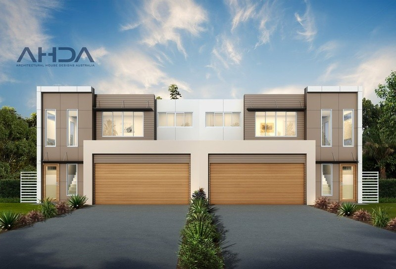 Double storey D3001 Dual Occupancy by Architectural House Designs Australia