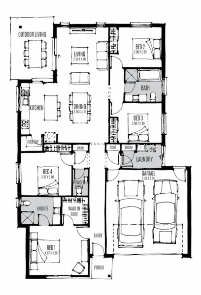 Single storey Latitude House design