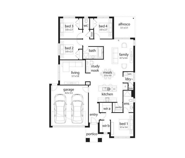 4 beds, 2 baths, 2 cars, 22.45 square main