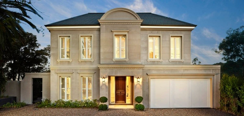 Double storey New French Provincia House by Glenvill Custom Homes