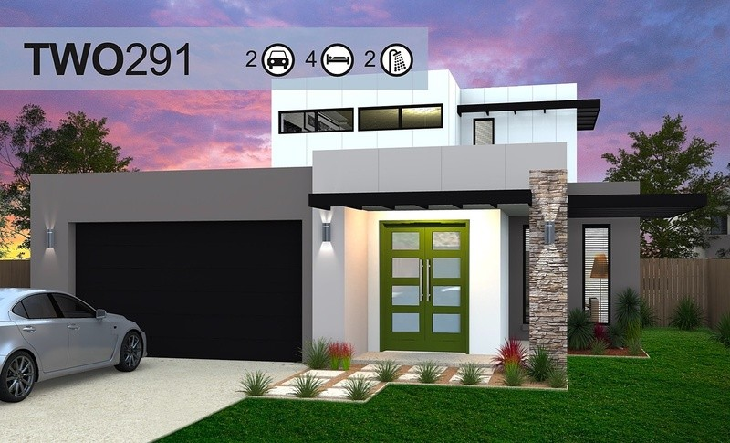 Double storey Two 291 House by Homes4You Queensland