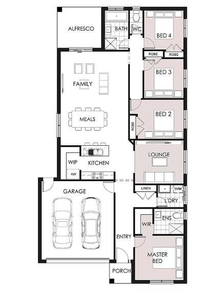 Single storey Orchard House design