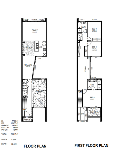 Double storey Amagro Townhouse design