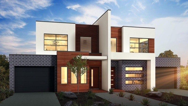 Double storey Design concept - A Dual Occupancy by Berstan Homes