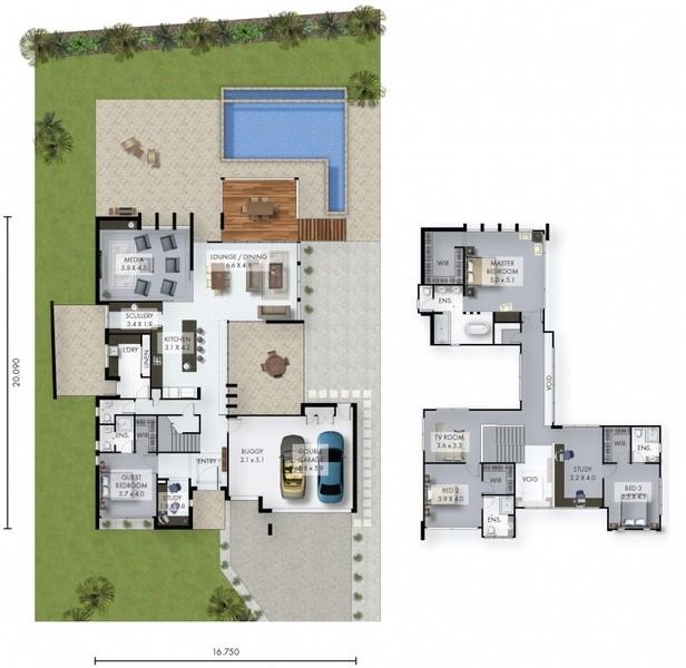 4 beds, 4 baths, 2 cars, 49.50 square main