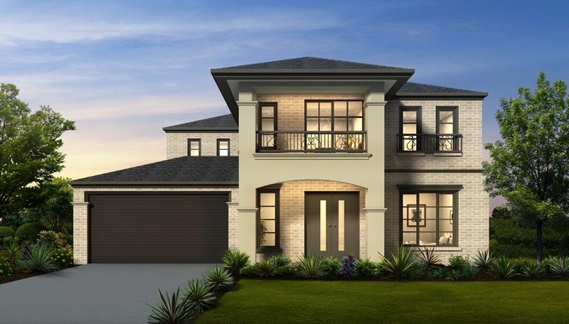 Double storey The Waldorf House by Aspire Designer Homes