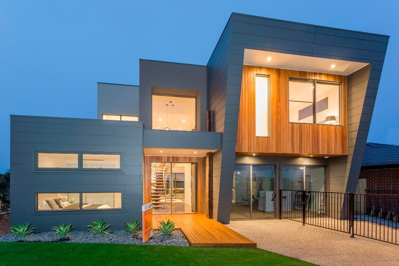 Double storey Coastal D34 House by Pivot Homes