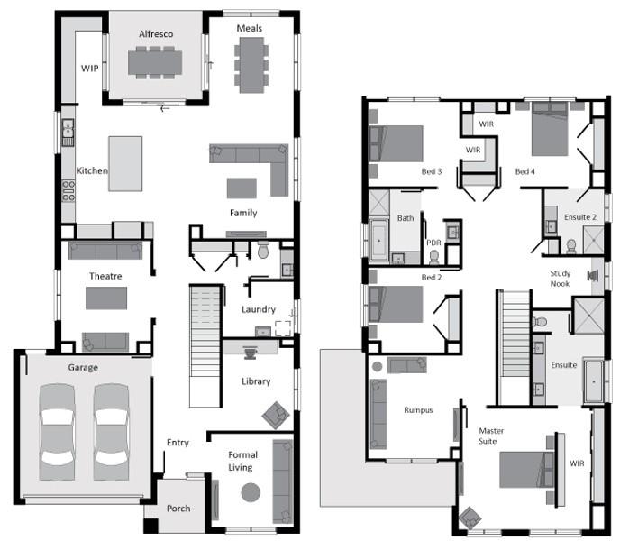Double storey Pinnacle 430 House design