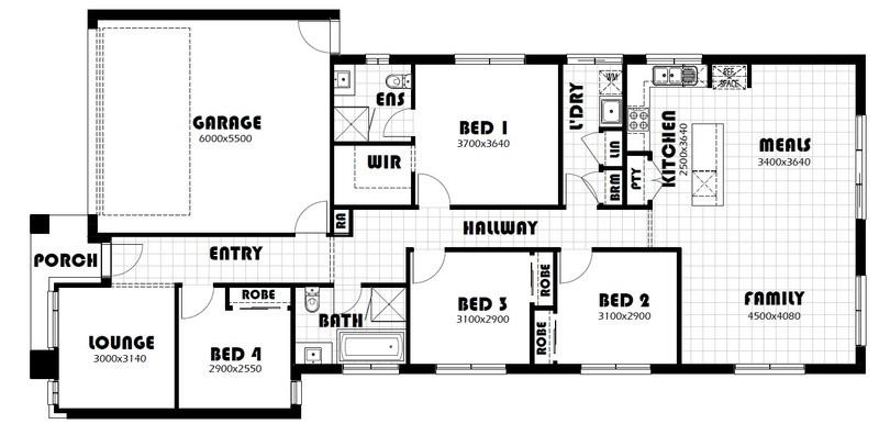 Single storey Ashwood House design