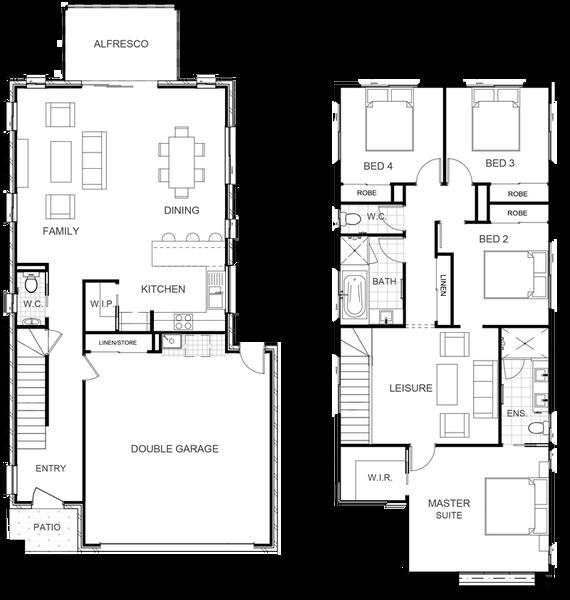Double storey Aspen 219 House design