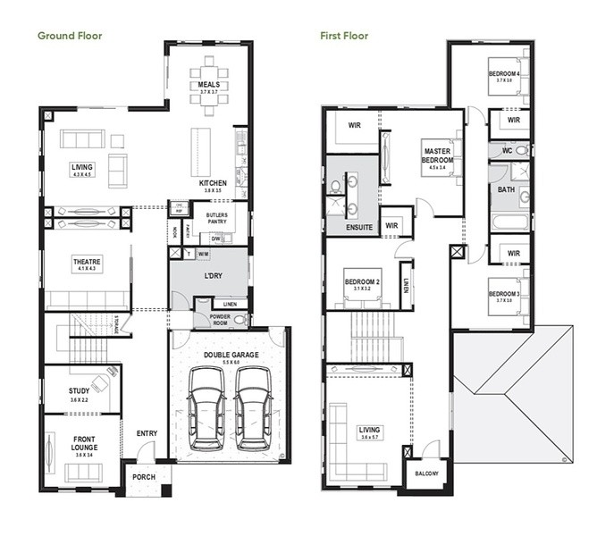 Double storey Alexis 40 House design