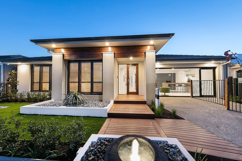 Single storey Villa Cove House by Davidson Building Group