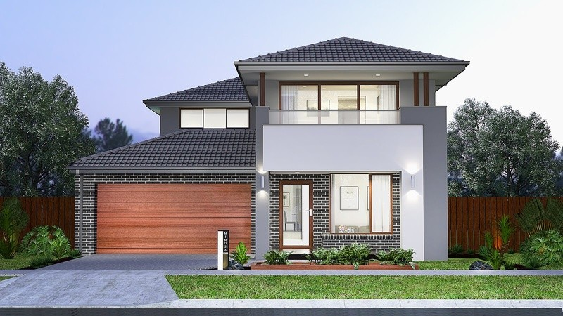 Double storey Alexandra 433 House by Mimosa Homes