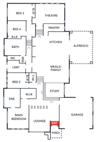 4 beds, 2.5 baths, 2 cars, 41.00 square floorplan