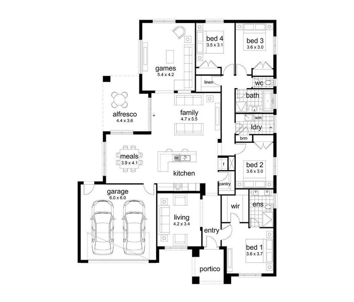 4 beds, 2 baths, 2 cars, 35.12 square facade
