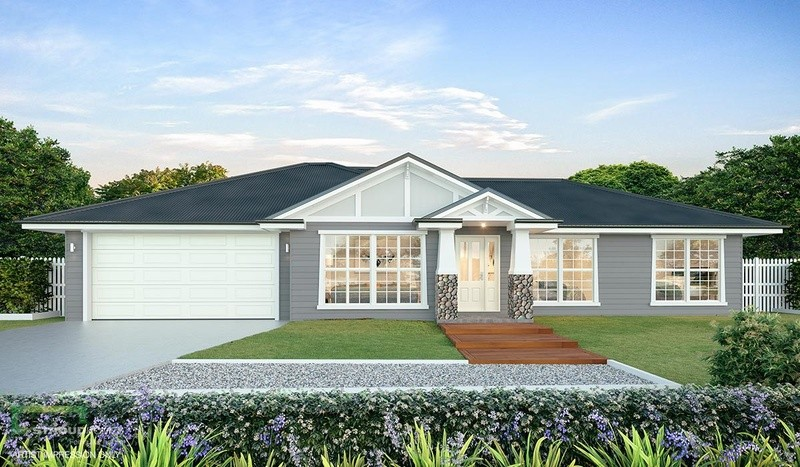 Single storey Beechmont 204 House by Stroud Homes Melbourne North